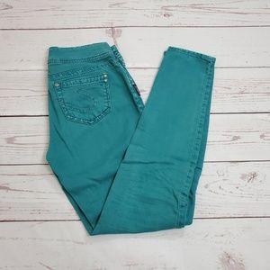Silver Jeans Suki Skinny Jeans Size 27 / 31 Green